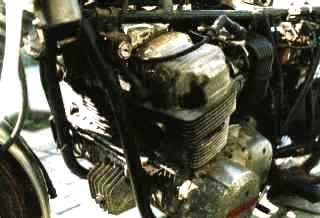 Unrestored engine
